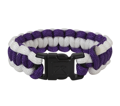 Rothco Purple & White Paracord Bracelet - 947