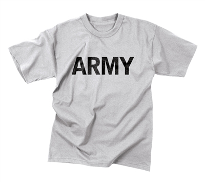 Rothco Grey Moisture Wicking Army Pt T-shirt - 9515