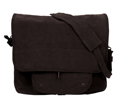 Rothco Black Vintage Paratrooper Bag - 9558