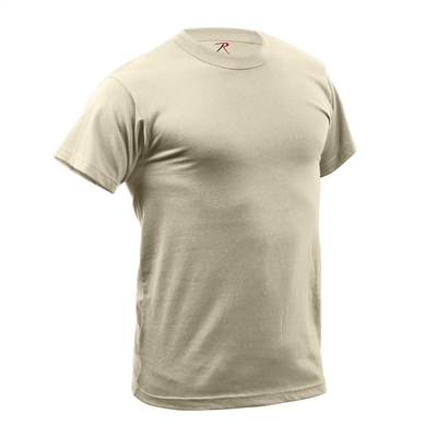 Rothco Tan Quick Dry Moisture Wick T-shirt - 9570