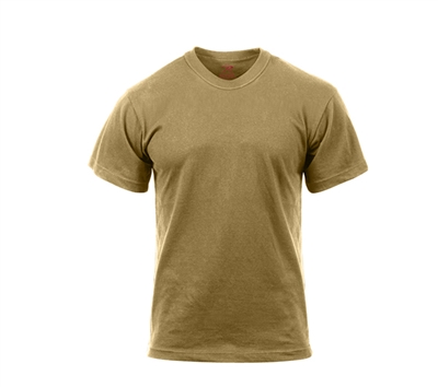 Rothco Brown Moisture Wicking T-shirt - 9574