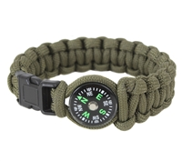 Rothco Olive Drab Paracord Compass Bracelet - 958