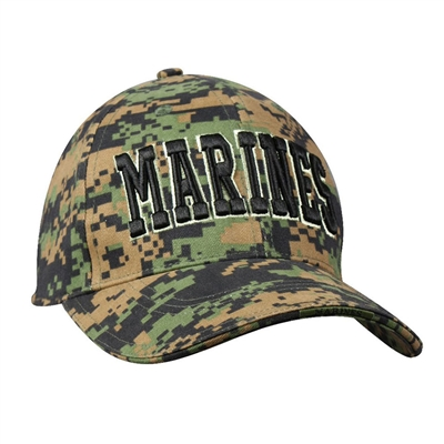 Rothco Digital Woodland Camo Marines Cap - 9588