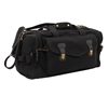 Rothco Black Leather Canvas Bag - 9611