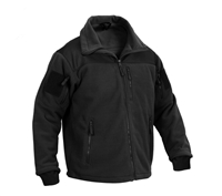 Rothco Spec Ops Black Tactical Fleece Jacket 96670