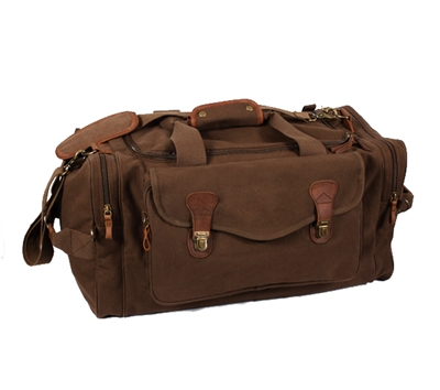 Rothco Brown Canvas Long Weekend Bag - 9689