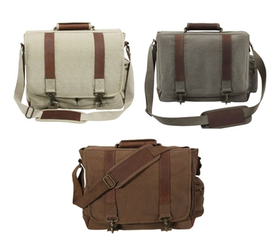 Rothco Vintage Canvas Pathfinder Laptop Bag - 9691