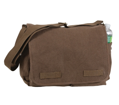 Rothco Brown Canvas Messenger Bag - 9694