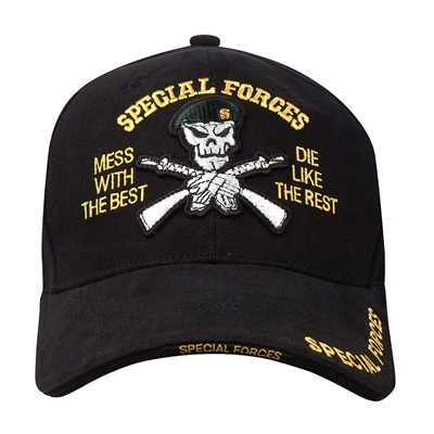 Rothco Black Special Forces Cap - 9696