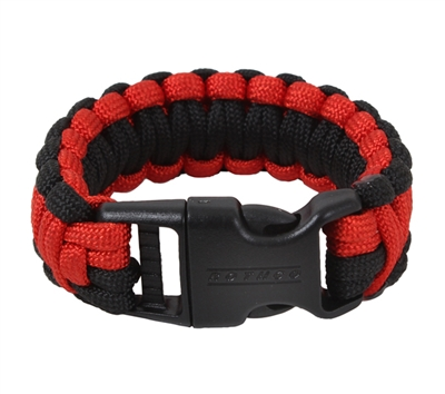Rothco Red & Black Paracord Bracelet - 972