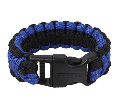 Rothco Black & Royal Blue Paracord Bracelet - 973