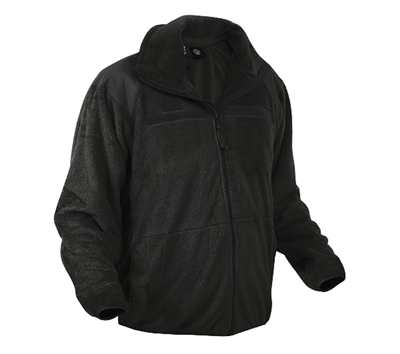 Rothco Black Ecwcs Fleece Jacket - 9739