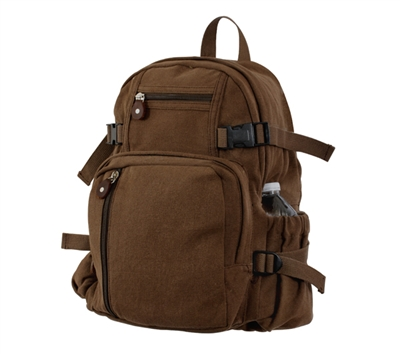 Rothco Brown Vintage Canvas Mini Backpack - 9743