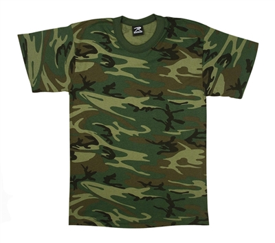 Rothco Woodland Camo Heavyweight T-Shirt - 9777