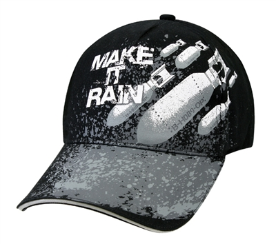 Rothco Black Make It Rain Cap - 9783