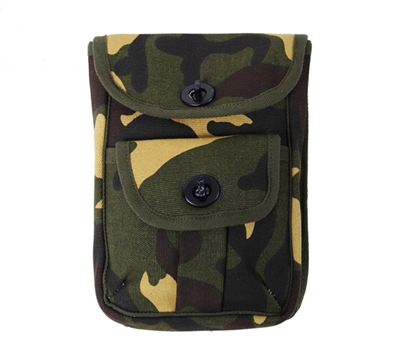 Rothco Woodland Camo 2 Pocket Canvas Ammo Pouch - 9802