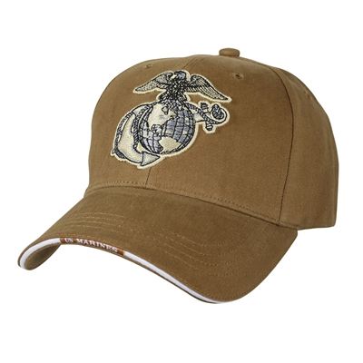 Rothco Coyote Globe and Anchor Cap - 9827