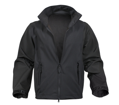 Rothco Black Soft Shell Uniform Jacket - 9834