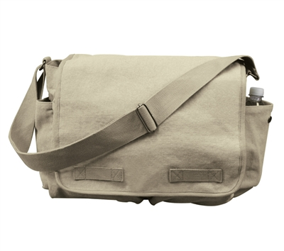 Rothco Khaki Vintage Canvas Messenger Bag - 9848