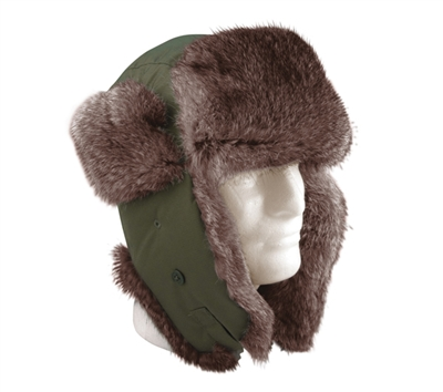 Rothco Olive Drab Fur Flyers Hat - 9860