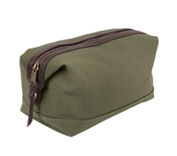Rothco Olive Drab Canvas And Leather Travel Kit - 9866