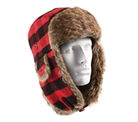 Rothco Red Plaid Fur Flyers Hat - 9871