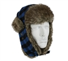 Rothco Blue Plaid Fur Flyers Hat - 9872