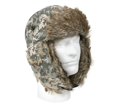 Rothco Digital Camo Fur Flyers Hat - 9876