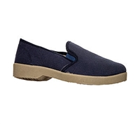 Zig-Zag Navy Slip on Shoes - 7206