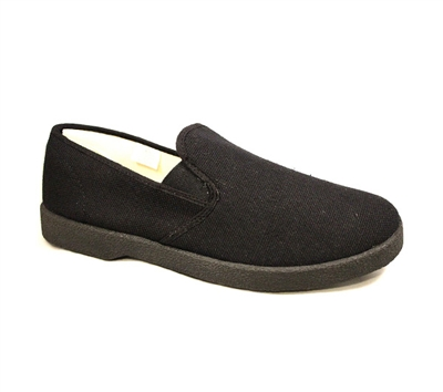 Zig-Zag Black Slip on Shoes - 7209
