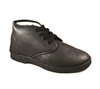 Zig-Zag Black Leather Chukka Shoes - 7219