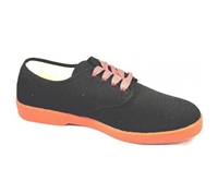 Zig-Zag Black Sneaker with Red Sole - 7221