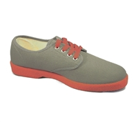 Zig-Zag Gray Sneaker with Red Sole - 7221