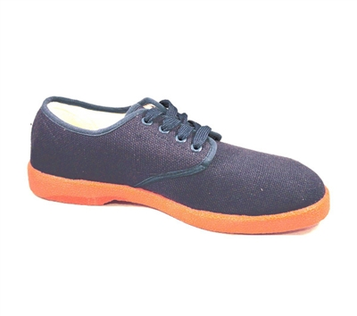 Zig-Zag Navy Sneaker with Orange Sole - 7221