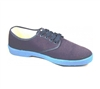 Zig-Zag Navy Sneaker with Blue Sole - 7222