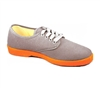 Zig-Zag Gray Sneaker with Orange Sole - 7223