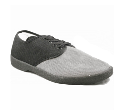 Zig-Zag Black and Gray Oxford Shoes - 7251