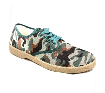 Zig-Zag Green Camouflage Sneakers - 7272