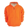 Snap N Wear Fluorescent Orange Sweatshirt 2-Ply Construction - 5019