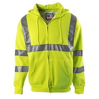 Snap N Wear 5201T High Visibility Class 2 Hooded Sweatshirt