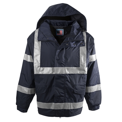 Snap N Wear Navy Safety System Jacket - 777T
