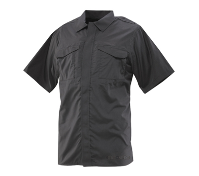 Tru-Spec Black Short Sleeve Uniform Shirt 24-7 SERIES - 1045