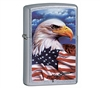 Zippo 24797 Made in the USA Flag Lighter