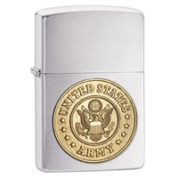Zippo US Army Crest Emblem Lighter - 280ARM