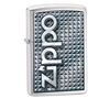 Zippo 28280 3D Brushed Chrome Lighter