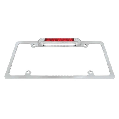 Deluxe License Plate Frame w/LED Third Brake Light