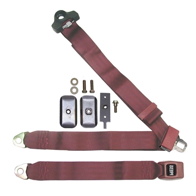Push Button 3pt. Non-Retractable Seat Belt