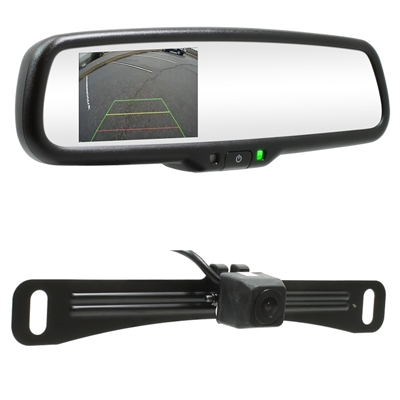 "RearSight System - 4.3"" Mirror/Monitor - License Plate Bracket Camera"