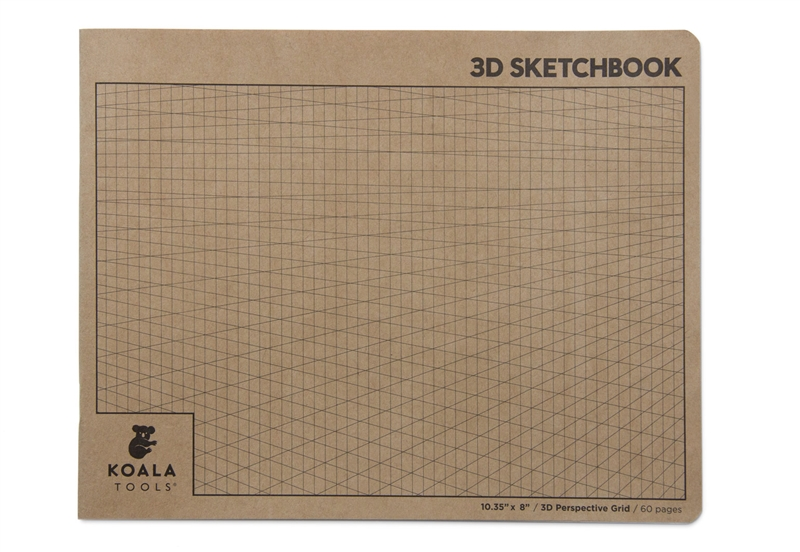 2-point Perspective 3D Grid Sketchbook