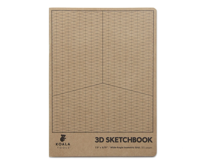 Wide-Angle Isometric Grid Sketchbook